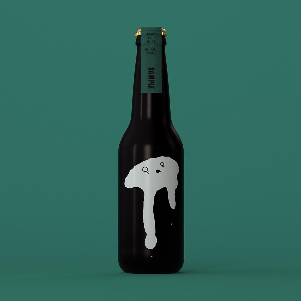 Custom letterpress beer neck labels for Sample Brew on Colorplan 2
