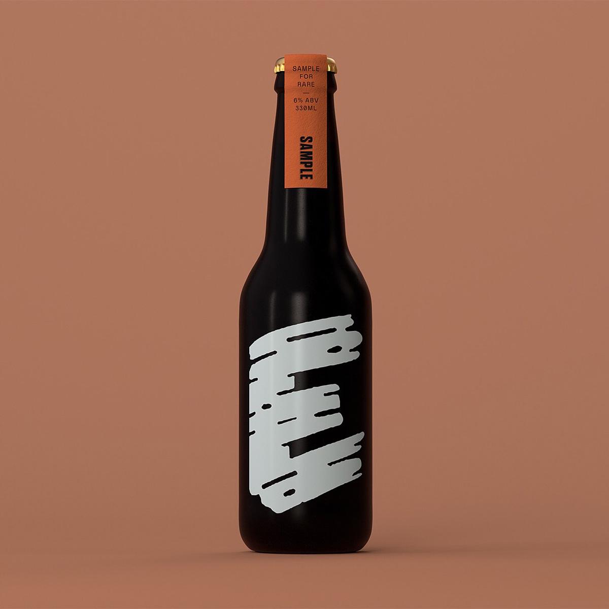 Custom letterpress beer neck labels for Sample Brew on Colorplan