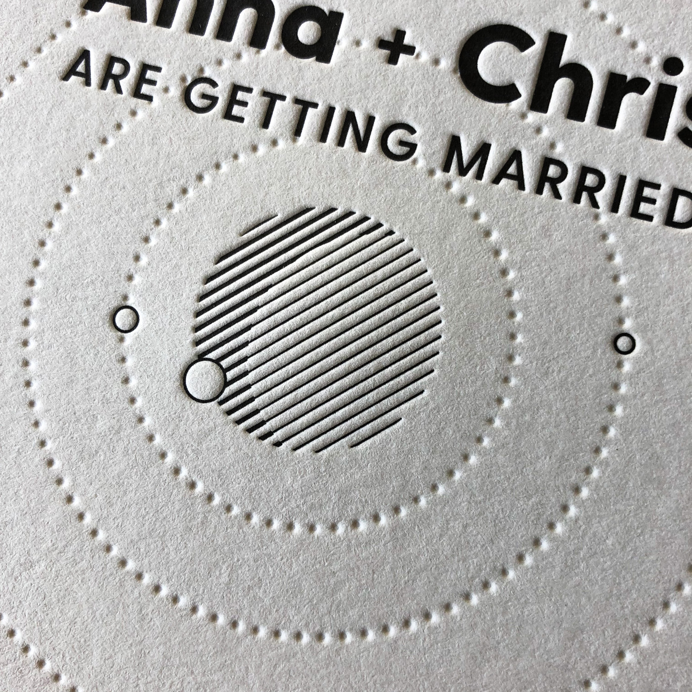 Letterpress wedding invitation for Anna and Chris on Wild