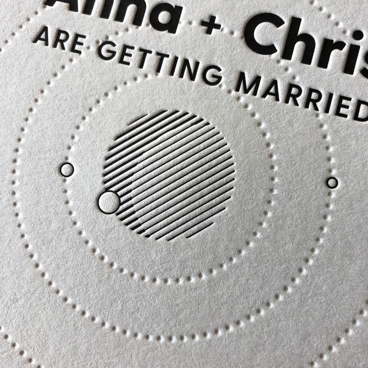 Letterpress wedding invitation for Anna and Chris on Wild
