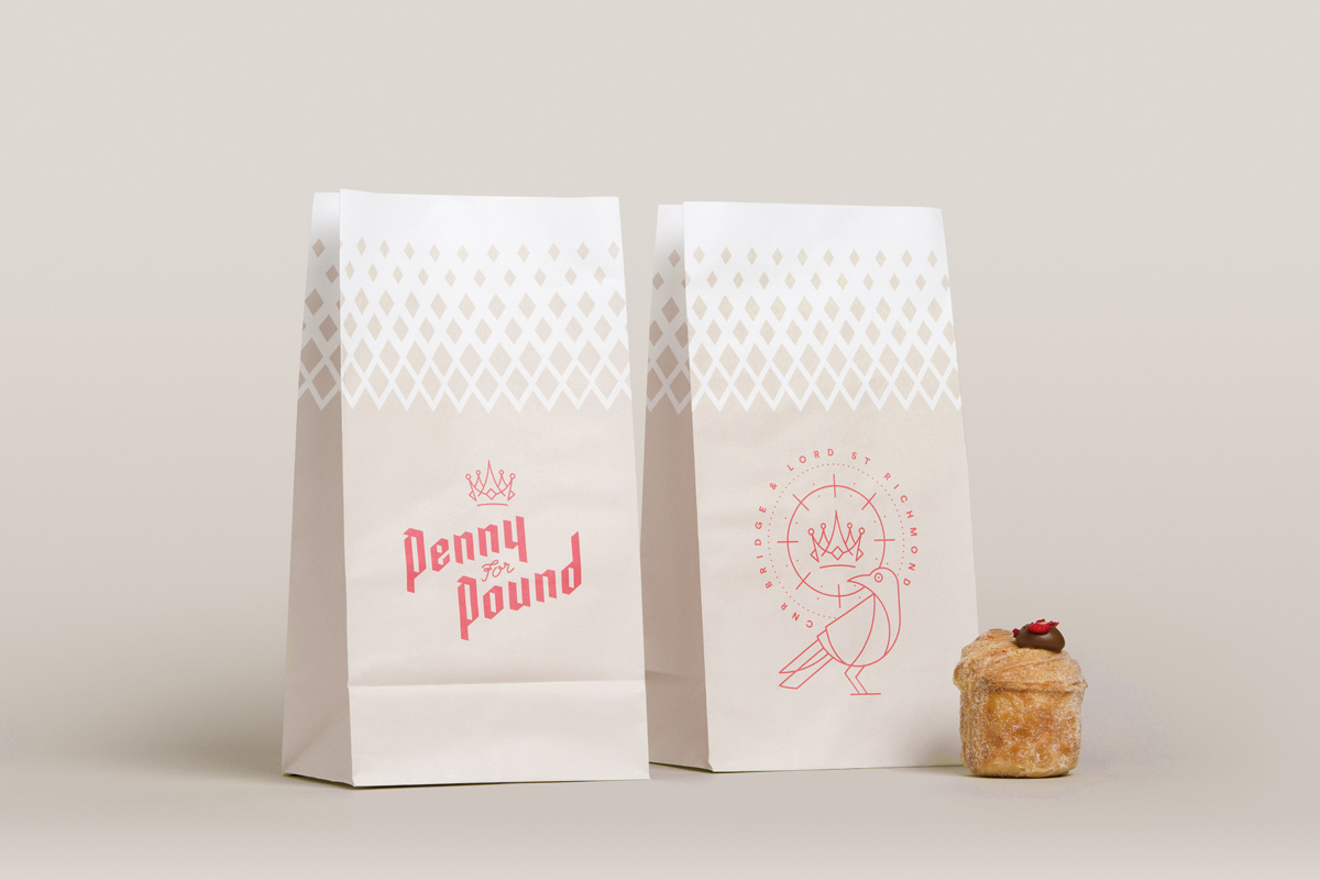 Paper pastry bags designed for Penny for Pound