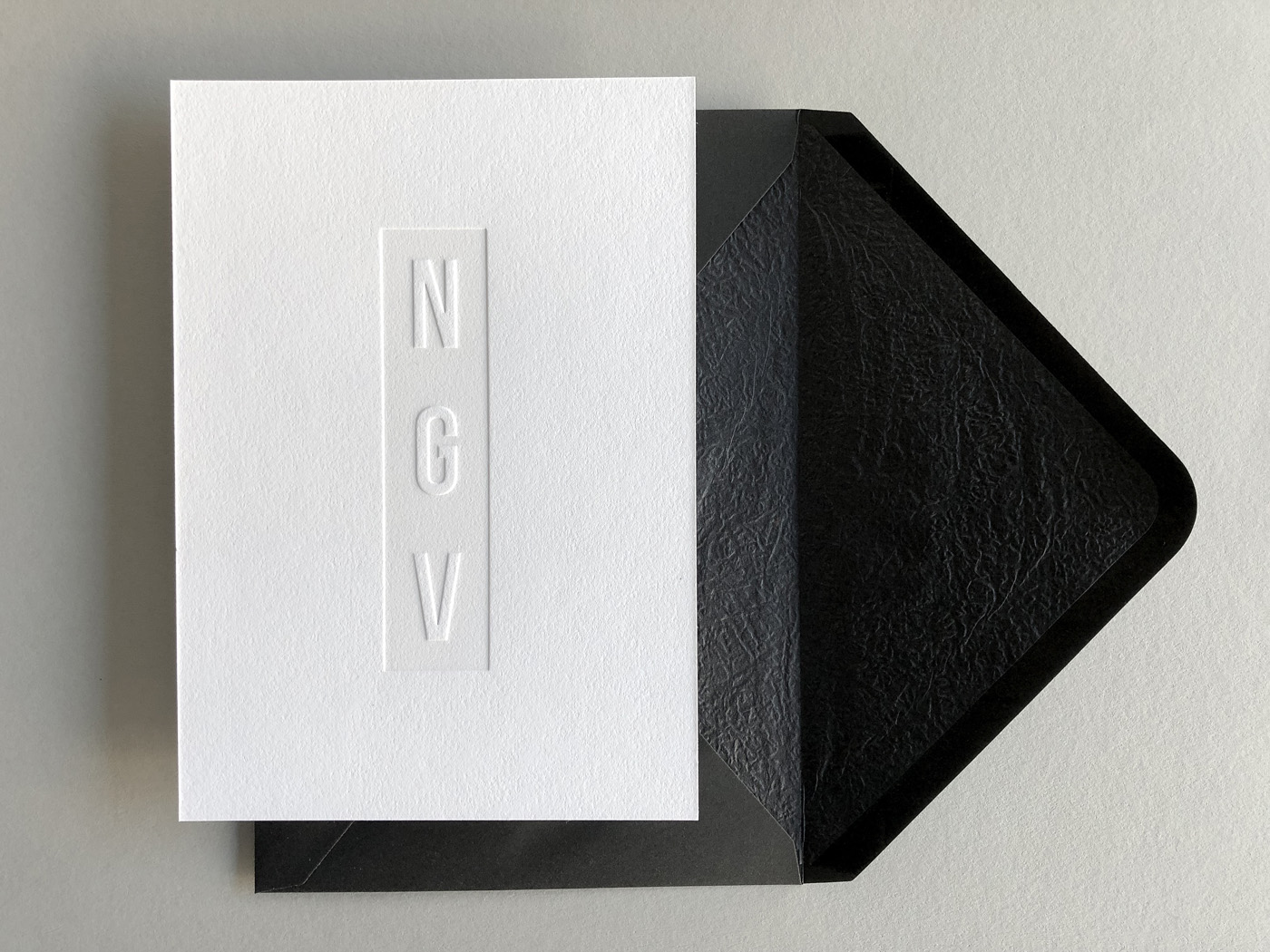 Premium letterpress invitations for National Gallery of Victoria Gala on Savoy