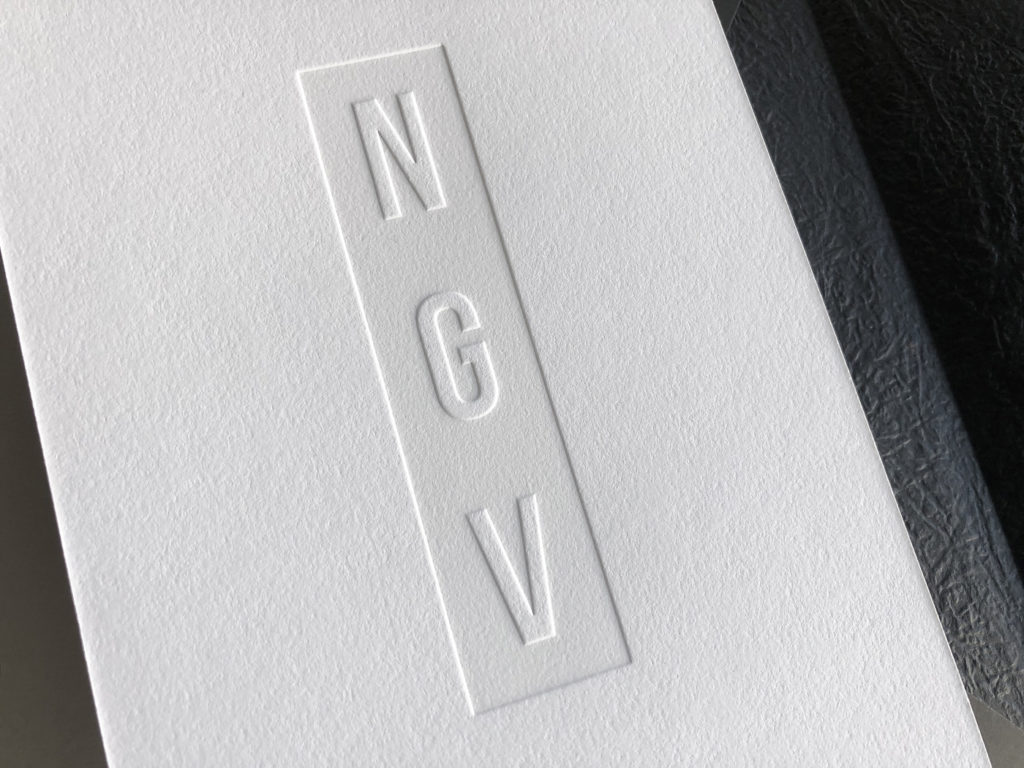 Premium letterpress invitations for NGV Gala on Savoy