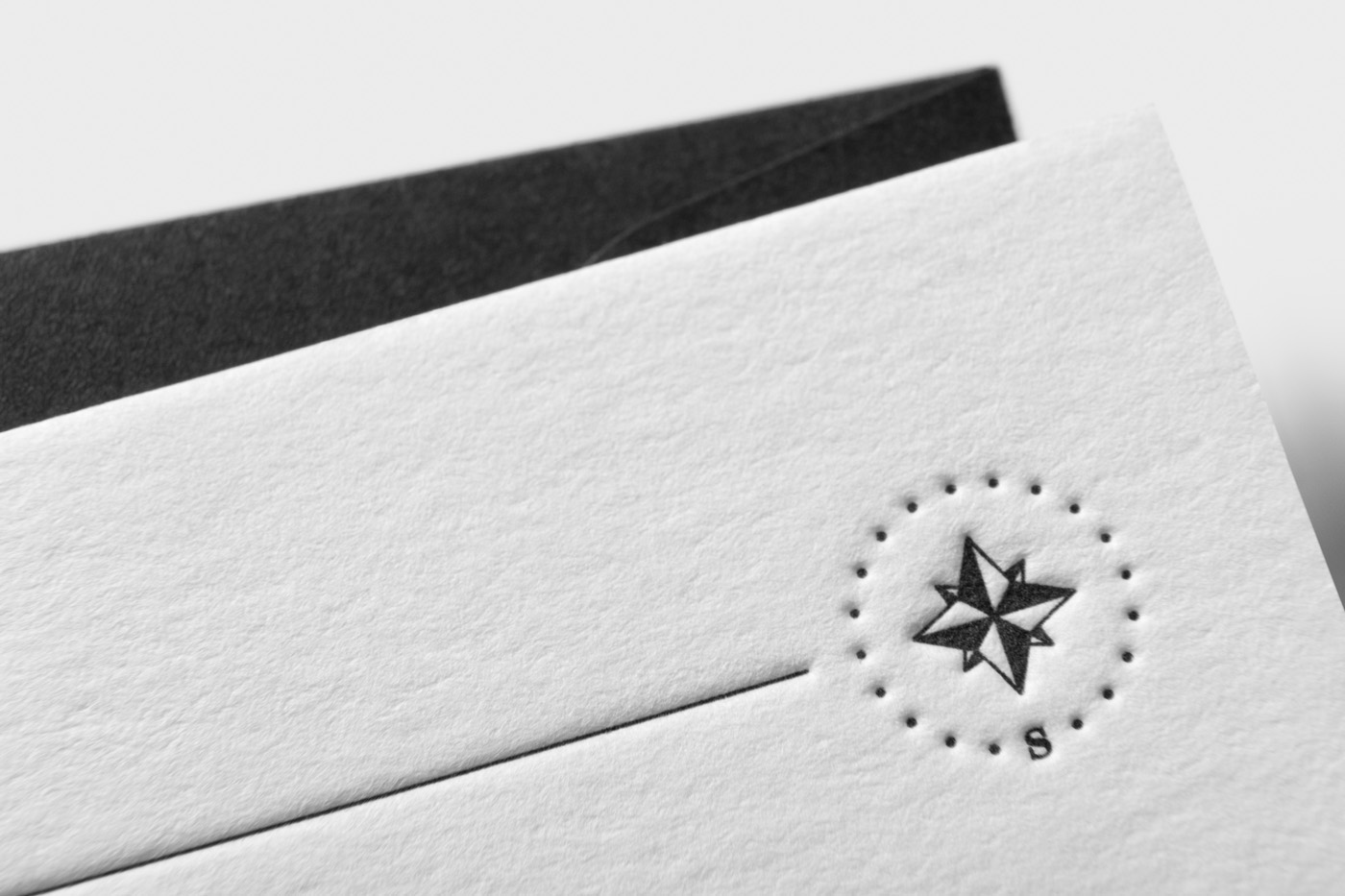 With compliments cards letterpress printed for Shantanu Starick on Wild 1