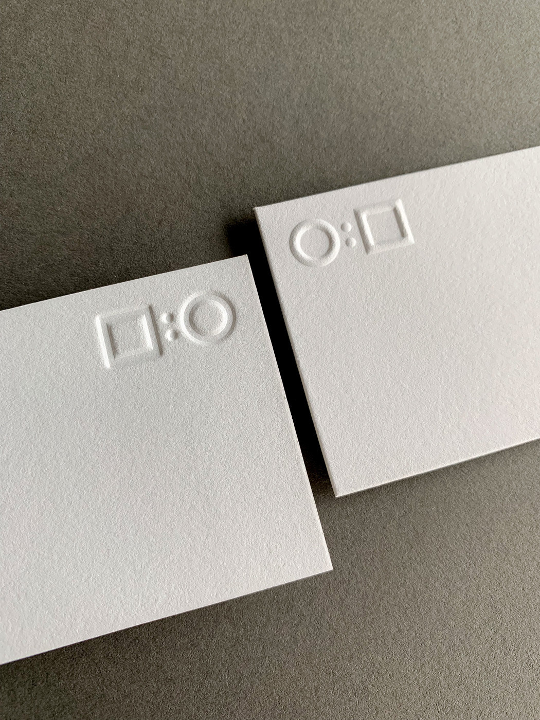 Embossed debossed letterpress business cards for SteelScale on Savoy 1