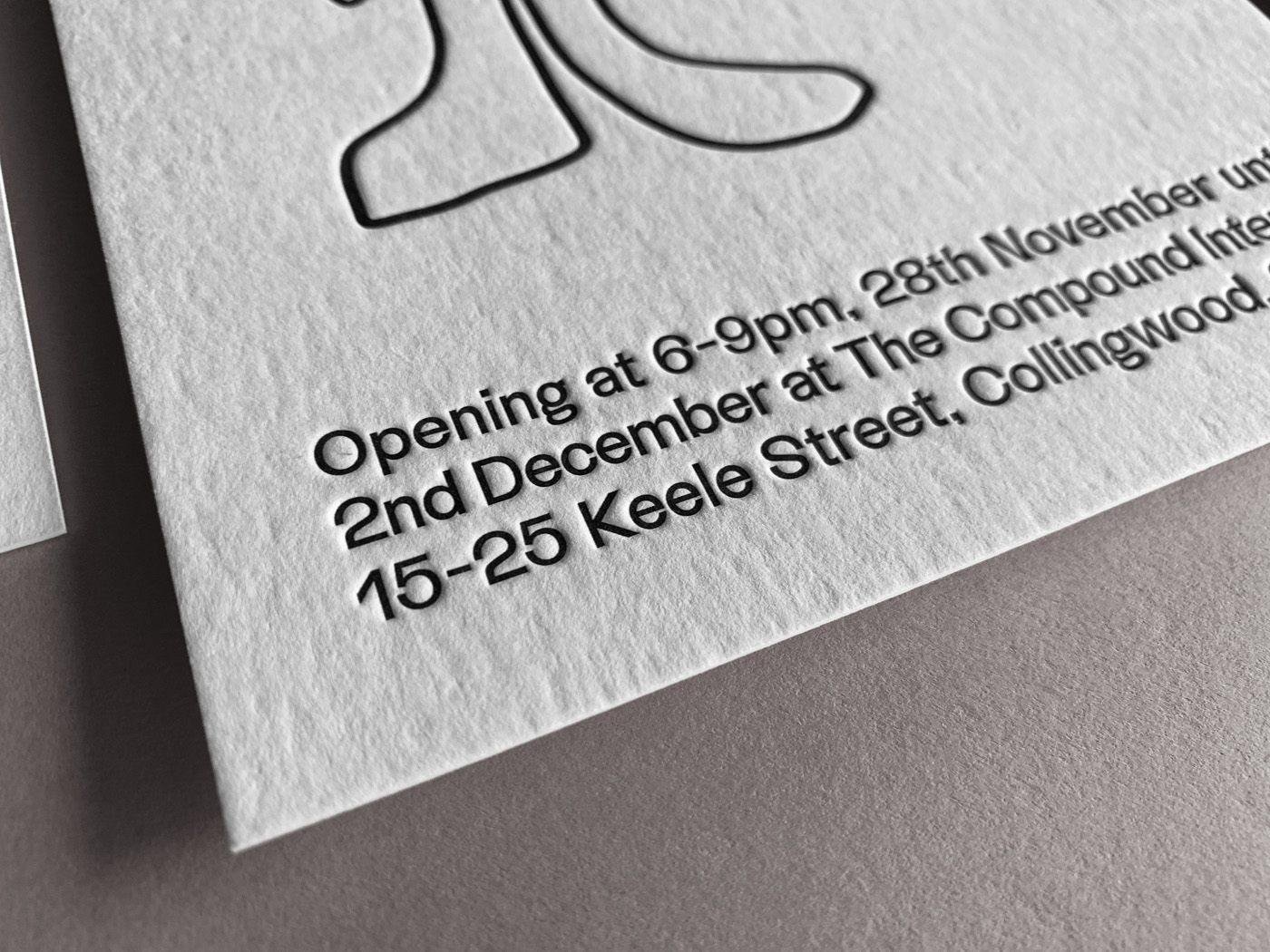 Exhibition promotional postcards letterpress printed for Simple Gestures on Wild 2