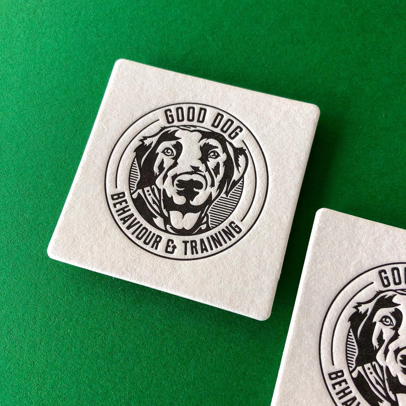Letter pressed business cards for Good Dog Behavior on Wild 2