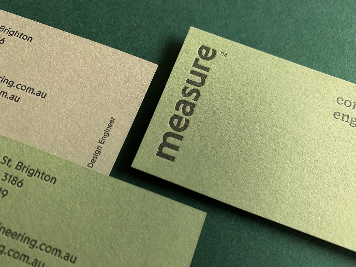 Letterpress Business Card for Measure on Stephen 2