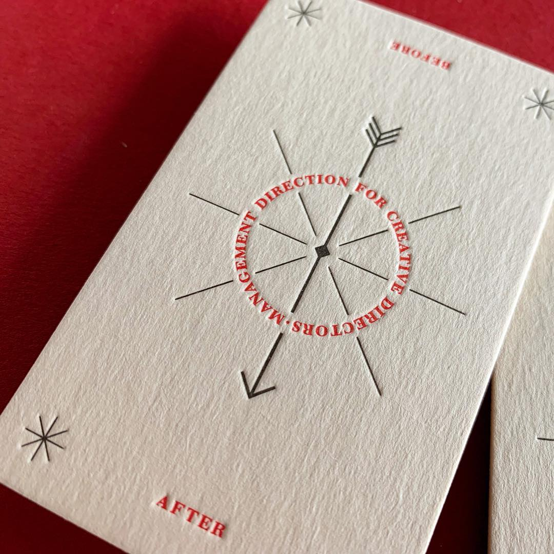 Letterpress Business Card for Sharon McNamara on Wild 1