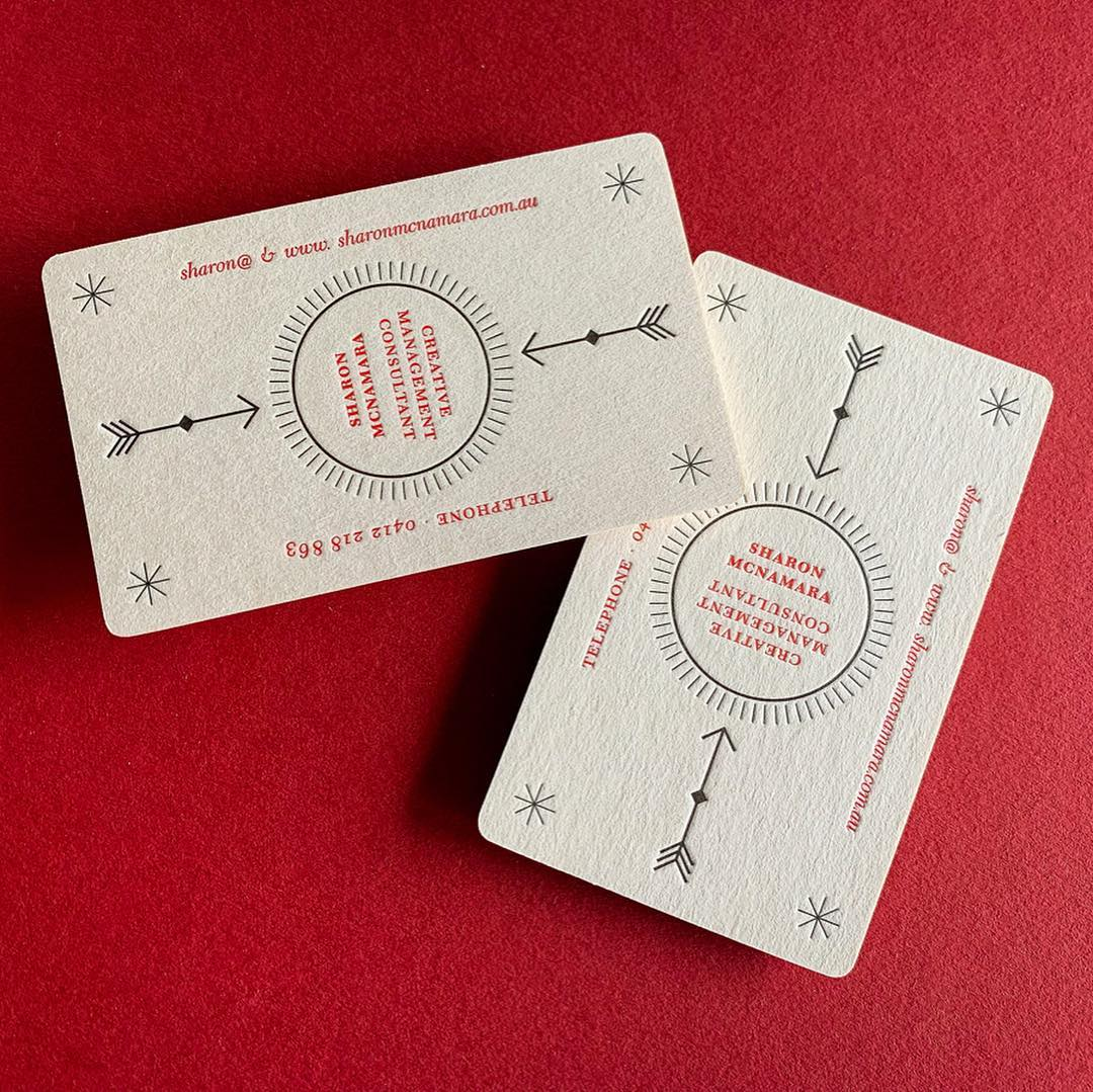 Letterpress Business Card for Sharon McNamara on Wild 3