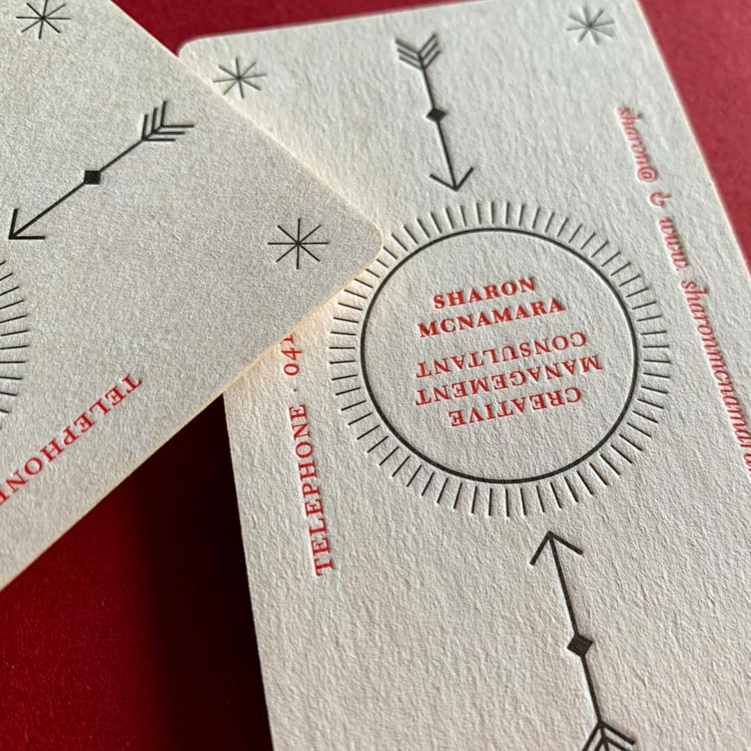 Letterpress Business Card for Sharon McNamara on Wild 4
