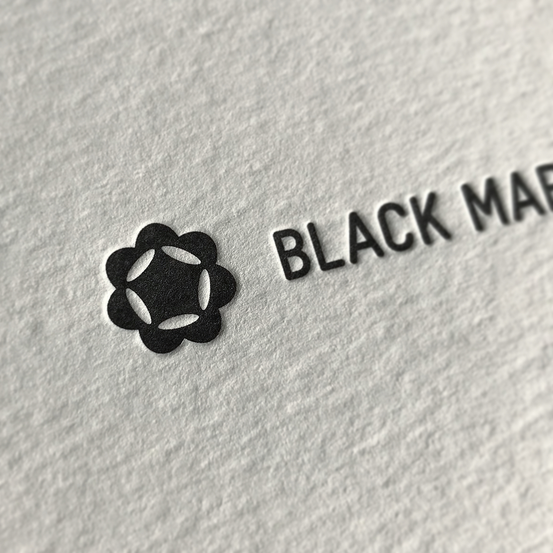Letterpress Business Cards and With Compliments for Black Market Sake on Wild 2