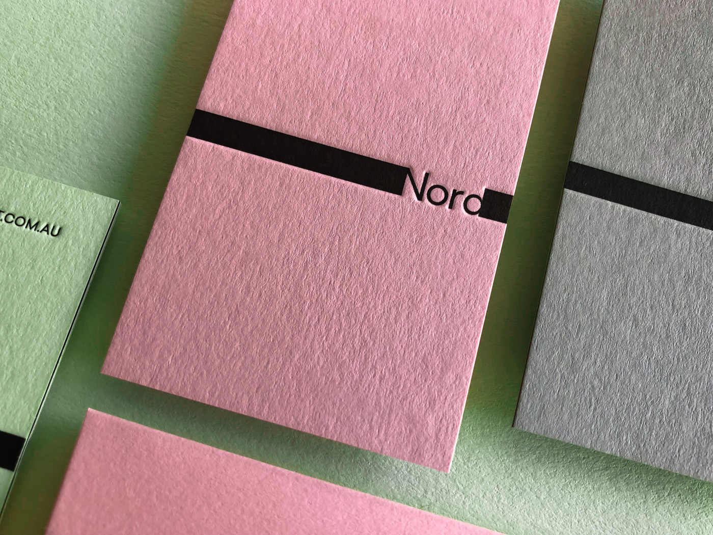 Letterpress Business Cards for Nord on Colorplan 3