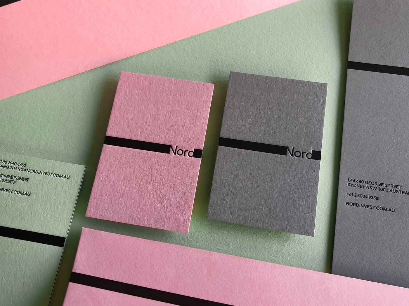 Letterpress Business Cards Letterhead Envelopes for Nord on Colorplan 2