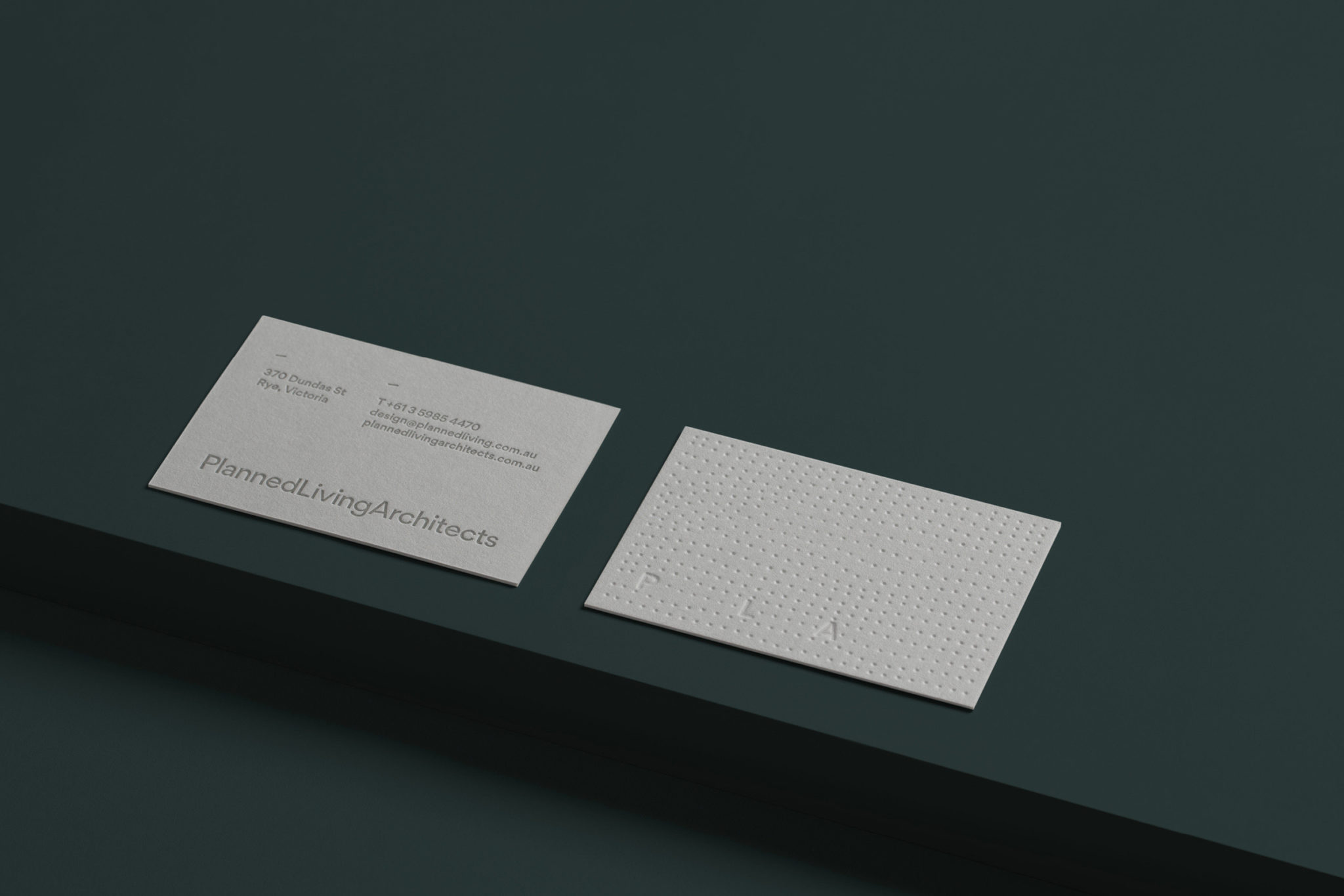 Premium Business Cards for PLA on Gmund New Grey