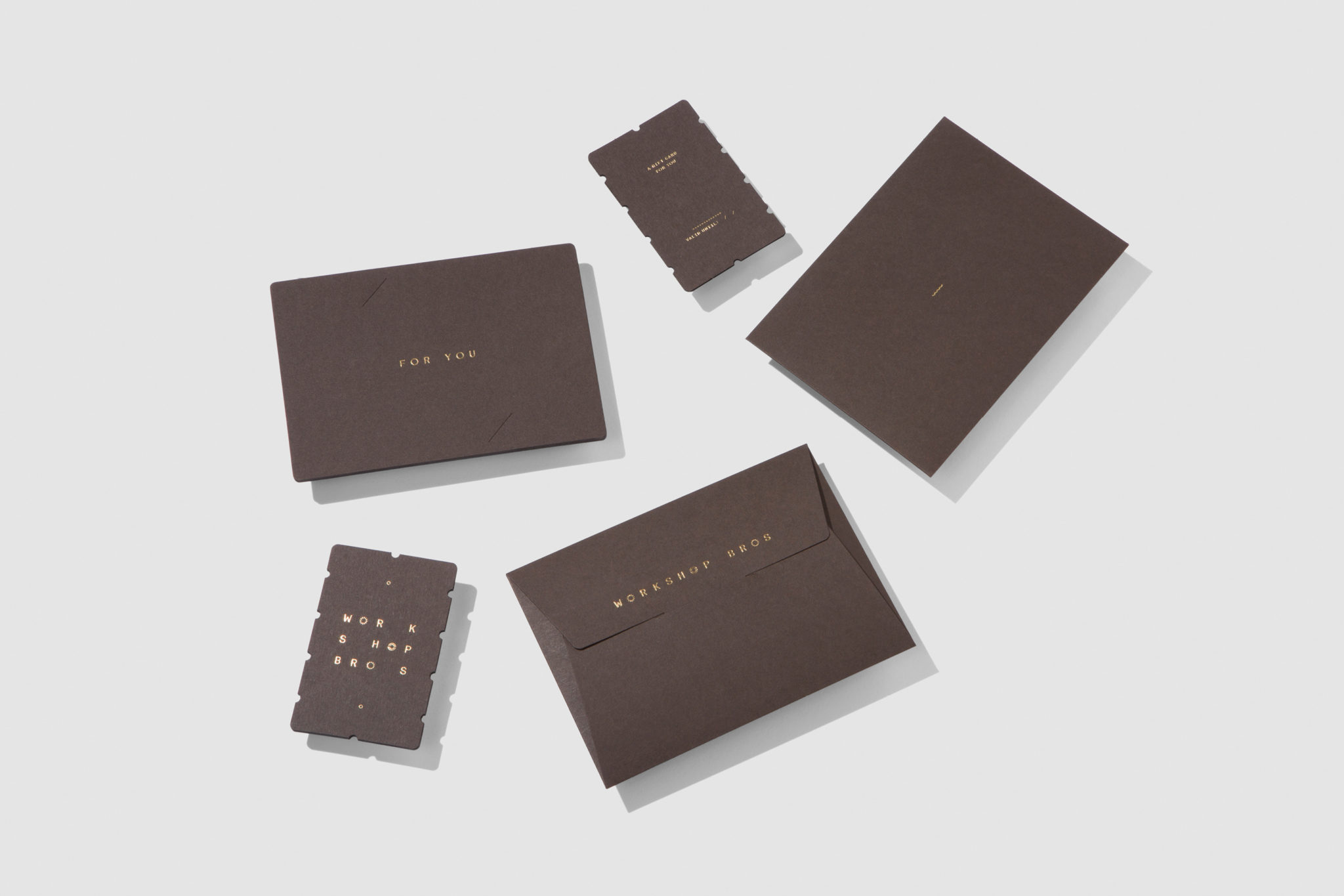 Premium Business Cards & Gift Certificates for Workshop Brothers on Colorplan 1