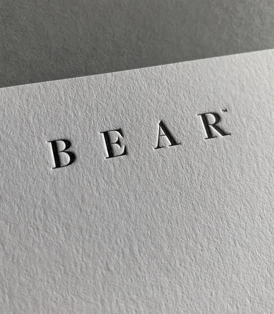 Specialty Letterpress Business Cards for Bear on Stephen 2