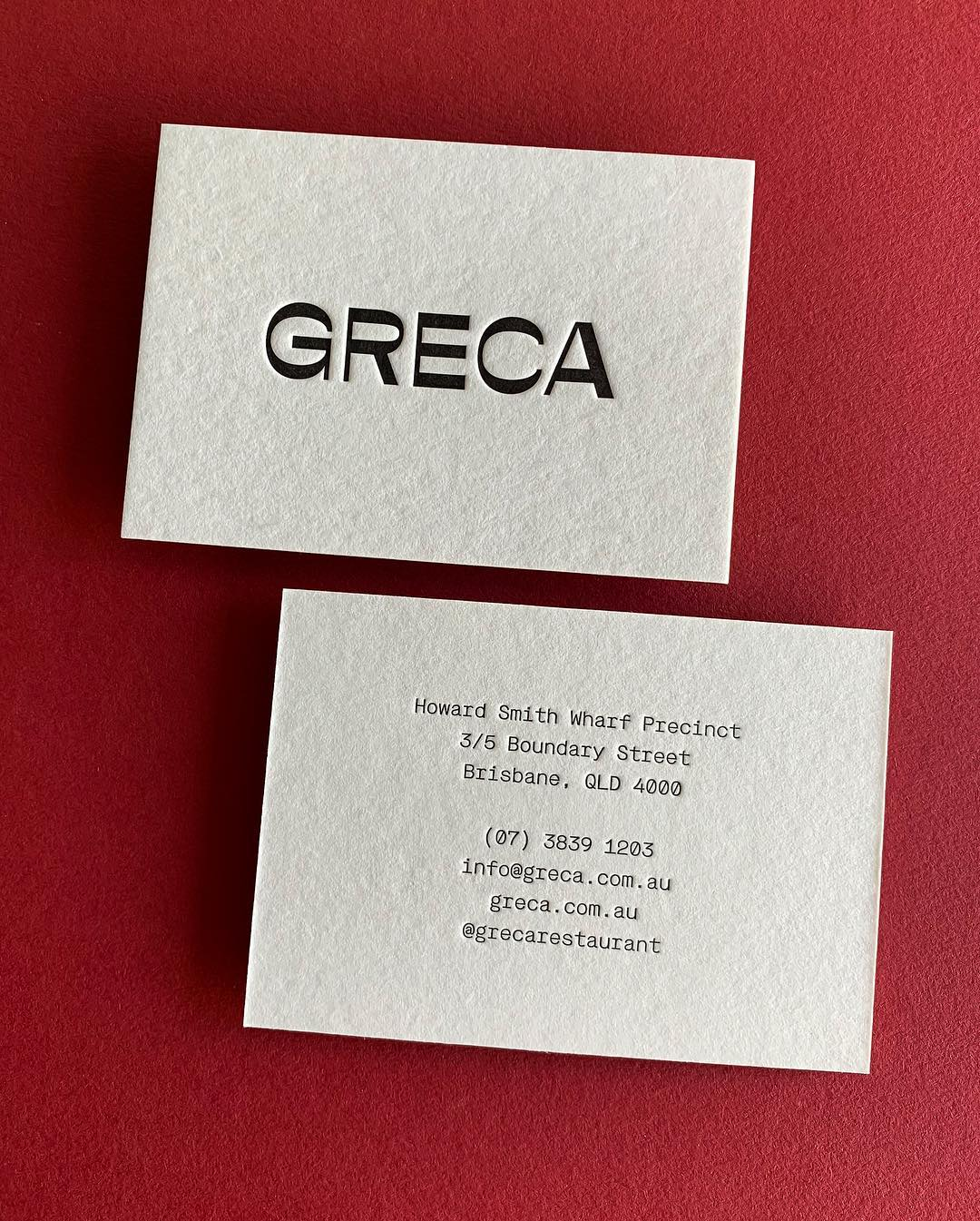 Thick Business Cards for Greca on Wild 1