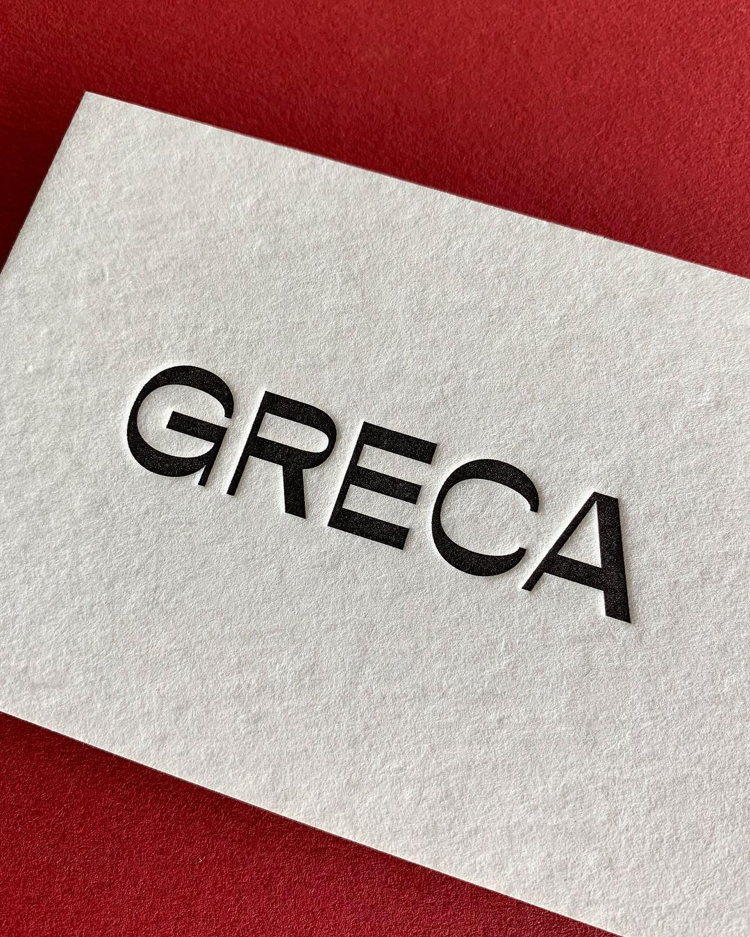 Thick Letterpress Business Cards for Greca on Wild