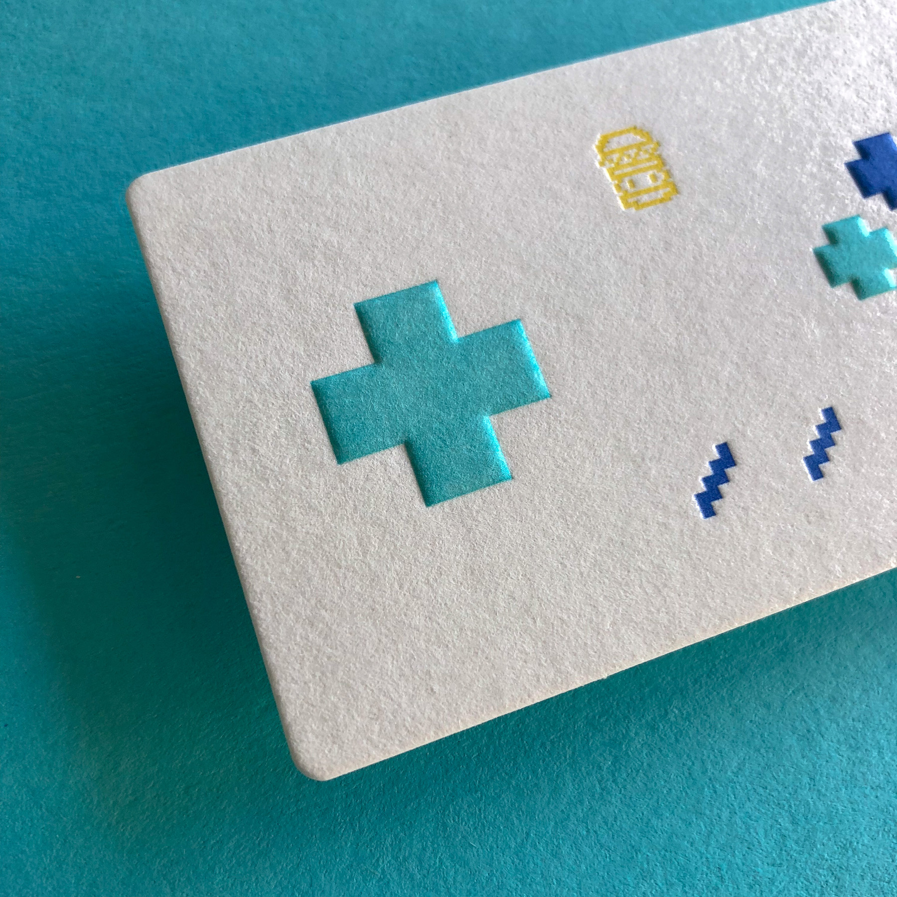 Unique letterpress embossed business cards for 8 Bit Burger on Wild 2