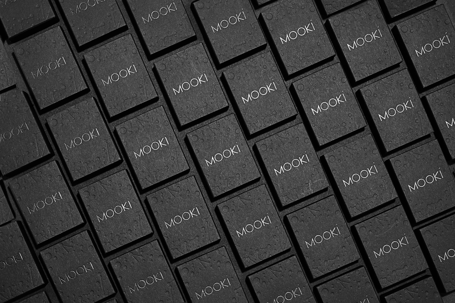 Letterpress and Foil Packaging for Mooki on Keaykolour Jet Black 1