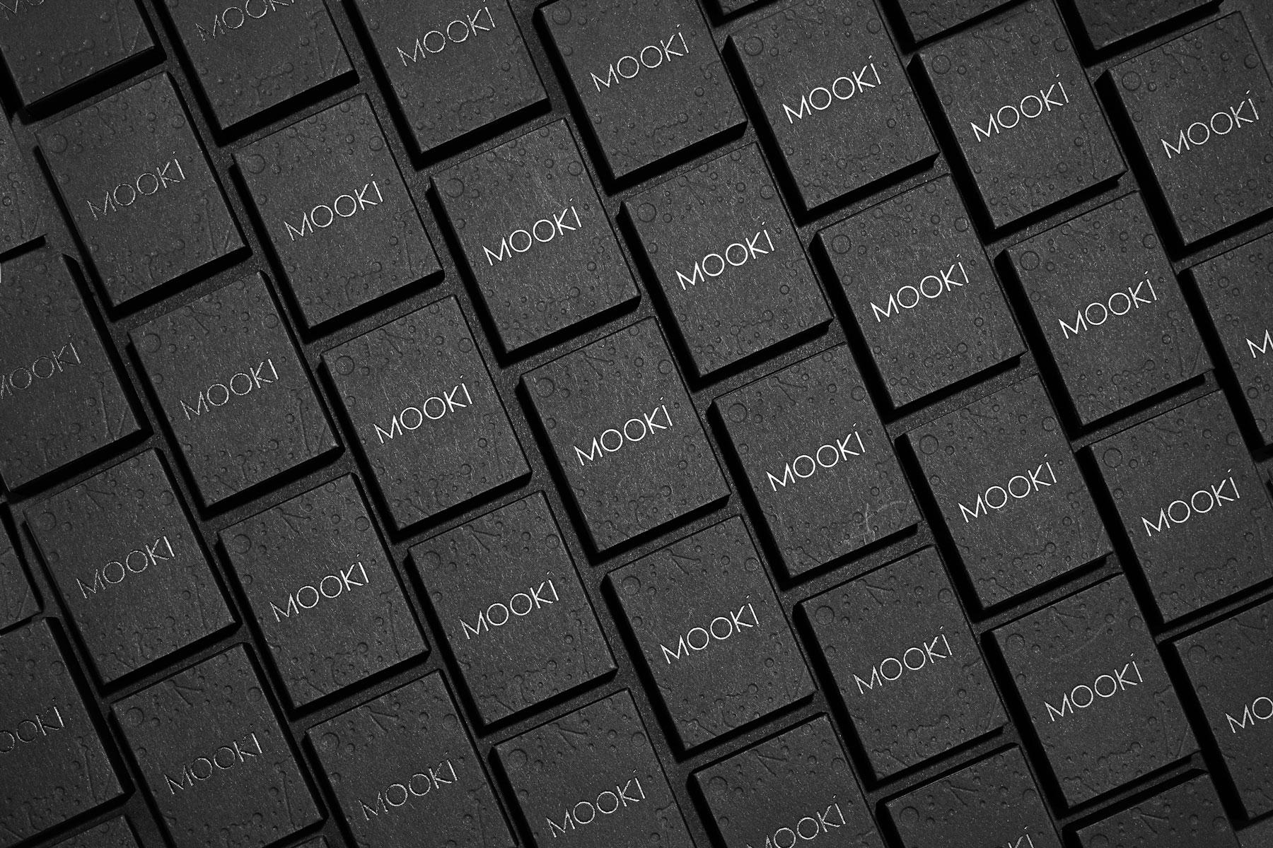 Letterpress and Foil Packaging for Mooki on Keaykolour Jet Black 1