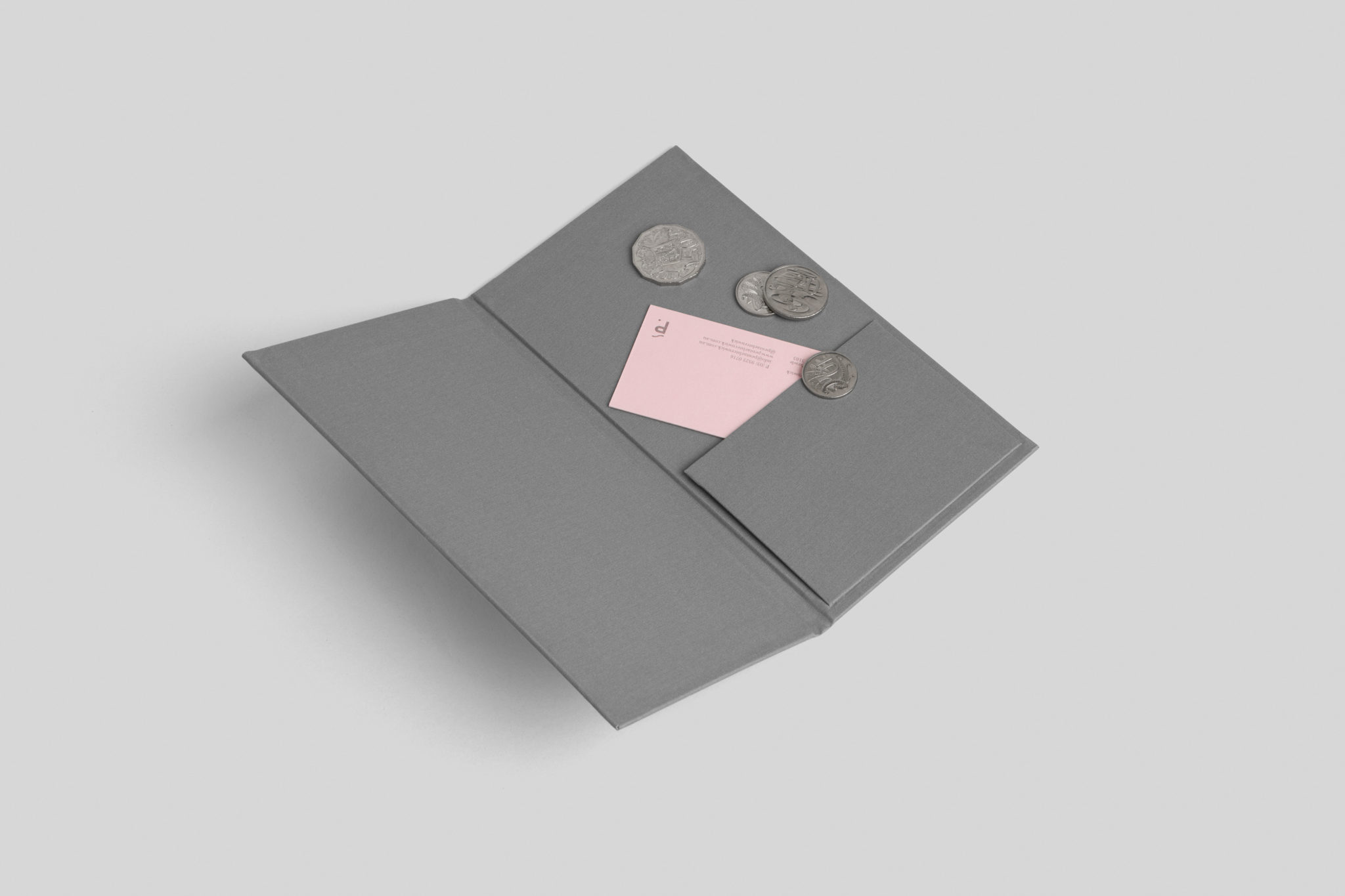Custom letterpress business cards for Penta on Colorplan Candy Pink 3