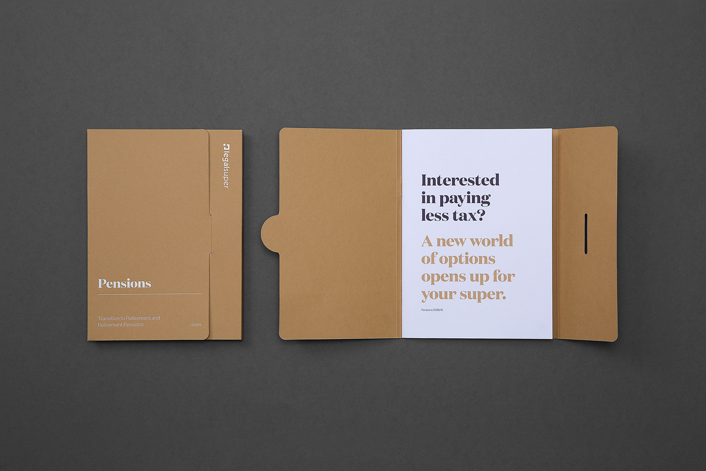 Object design for legalsuper booklet on Colorplan 2