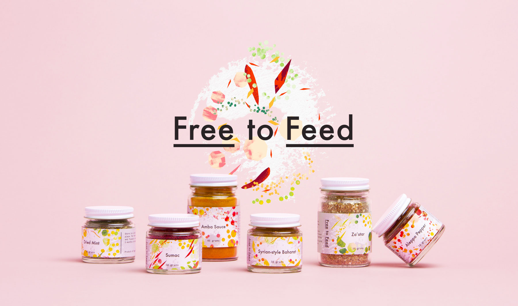 Packaging spices and logo design for Free to Feed 1
