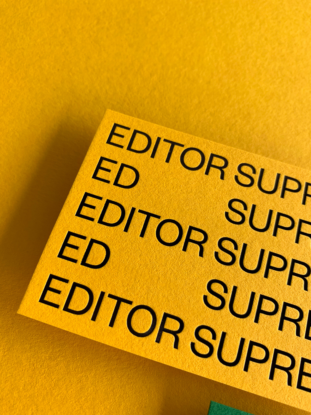 Black foil business cards for Ed Supreme on Colorplan 5