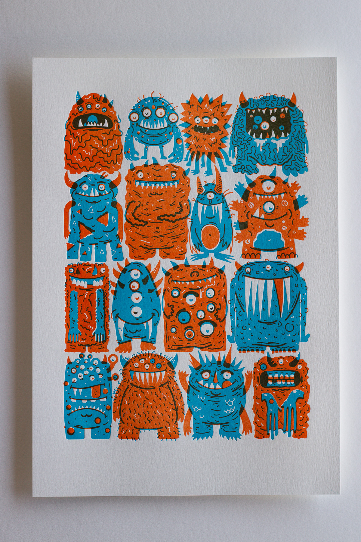 Michael Langenegger Monster Letterpress Art Print x Hungry Workshop-01