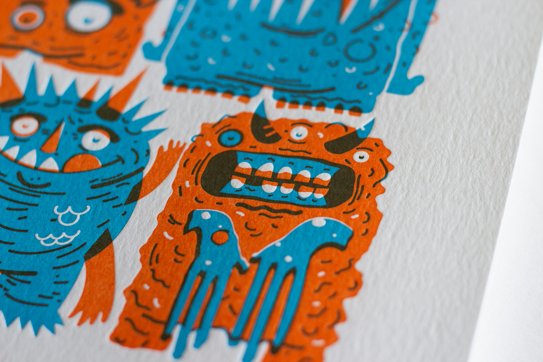 Michael Langenegger Monster Letterpress Art Print x Hungry Workshop-04